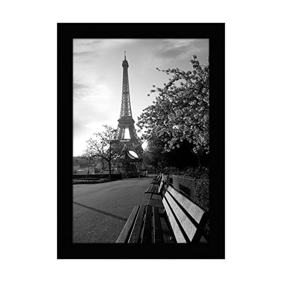 Americanflat 8x12 Black Picture Frame - Shatter-Resistant Glass - Wall Display - Tabletop Display - Hanging Hardware - Easel Back Included - Design: Black 8x12 (7.5x11.5 display area) inch picture frame, perfect for your cherished memories, family portrait and vacation photos; comes with hanging hardware for hassle-free display in both horizontal and vertical formats to hang flat against the wall; includes an easel stand for tabletop or desktop display Material: Wood frame with a polished tempered shatter-resistant glass front that gives a clear view of your picture and preserves your photographs, cards and memories Quality: Durable, gallery-style frame; the frame's front has clear tempered shatter-resistant glass and a sturdy backboard to keep the photo in place - picture-frames, bedroom-decor, bedroom - 51cN0BYQ nL. SS570  -
