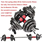 Euway Weight Bar Clips Barbell Clamps 1 Inch for