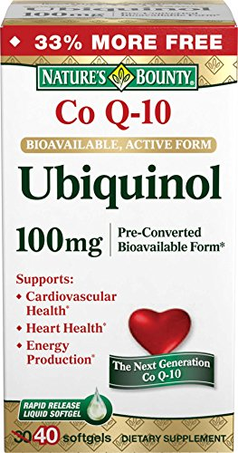 Natures Bounty Ubiquinol Softgels 100