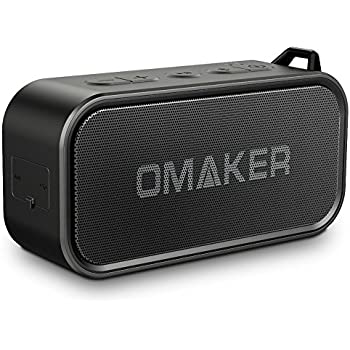 Omaker M6 Portable Bluetooth Speakers for Outdoor, Waterproof Wireless Speaker with Dual-Driver, Crystal Clear Sound and Premium Bass (TWS&18-Hour Playtime&Built-in Mic&up to 80-foot Bluetooth Range)