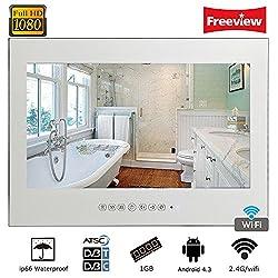"""Soulaca 21.5"""" Waterproof Android Vanishing Mirror Bathroom 1080HD LED TV"""