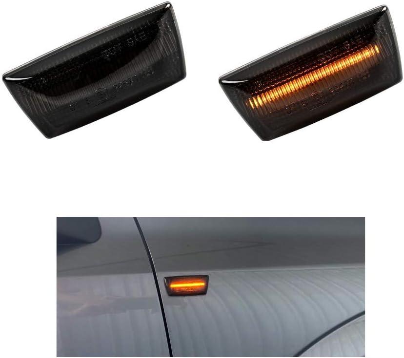 in vetro fum/é e nero DoLED Indicatore di direzione laterale a LED