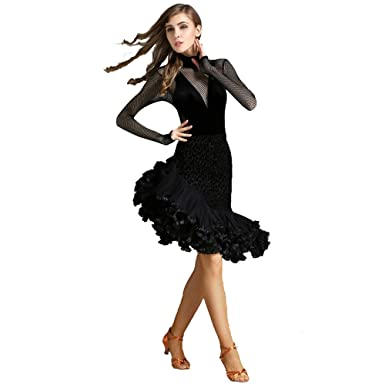 Liyukee Traje de Baile Nacional de Terciopelo Elegante Traje de ...