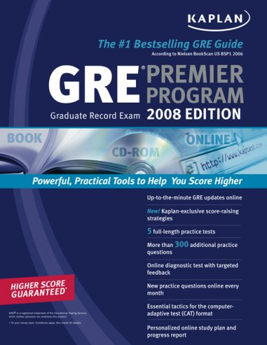 Kaplan GRE Exam 2008 Premier - Gre Premier Program