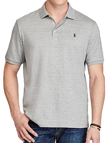 Polo Ralph Lauren Mens Pima Soft Touch Interlock Polo Shirt (Homestead Grey, - Outlets Homestead