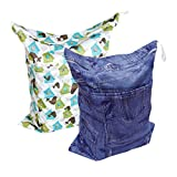 Alva Baby 2pcs Pack Wet and Dry Cloth Diaper Bags L2227