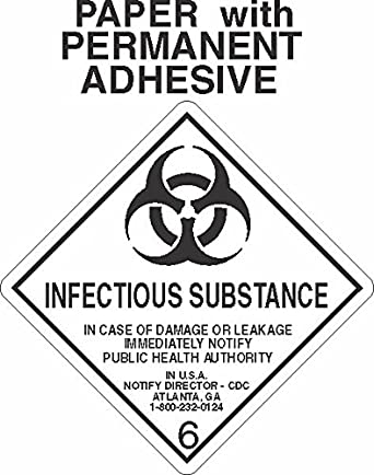 Gc Labels L333 Infectious Substance 6 2 Paper Labels Roll Of 500