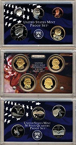- 2007 S U.S. Mint 14-coin Clad Proof Set - OGP box & COA Proof