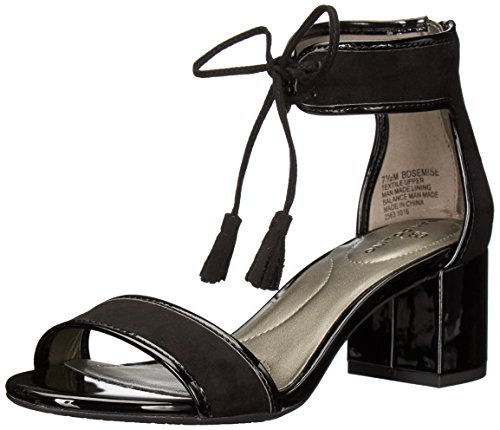 Bandolino Women's Semise Dress Sandal, Black, 7.5 M US ()