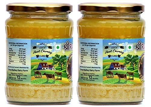 Shree Radhey Certified A2 Gir Cow Ghee - Gluten Free - (Traditionaly Hand Churned) (500 ml X 2) by Shree Radhey (Image #1)