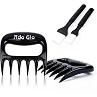 Premium Quality Meat Shredder - 2 Pack Sharp Meat Claws for Shredding, Handling & Carving Meat with 2 Pack Oil Brushes