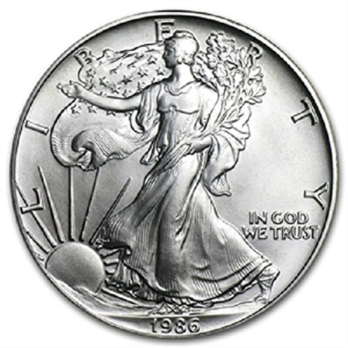 1986 - 1 Ounce American Silver Eagle Low Flat Rate Shipping .999 Fine Silver Dollar Uncirculated US Mint (Eagle Silver 1986)