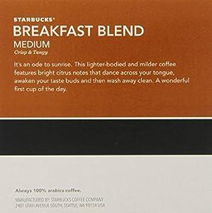 Starbucks Breakfast Blend K-Cup for Keurig Single Serve Coffee Makers