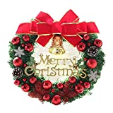 The Red Bow Red Butterfly Christmas Wreath Garland Ornaments Arcades Hotel Christmas Decorations (35cm)