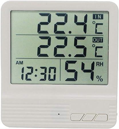 Relojes meteorológicos Termómetro Digital Higrómetro Estación meteorológica Interior Exterior Temperatura electrónica Humedad Medidor Monitor Relojes Relojes meteorológicos: Amazon.es: Hogar