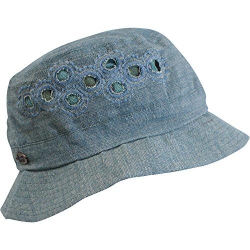 Turtle Fur Women's Nepal Lhotse, Lightweight Reversible Hemp Bucket Hat, Blue