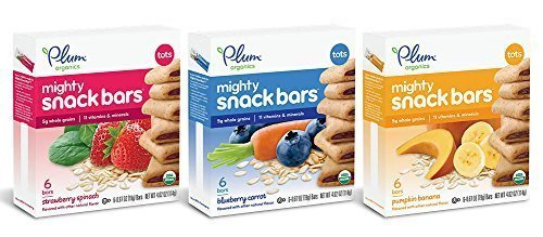 Plum Organics Mighty 4 Essential Nutrition Bars Bundle: Pack of 3 Boxes