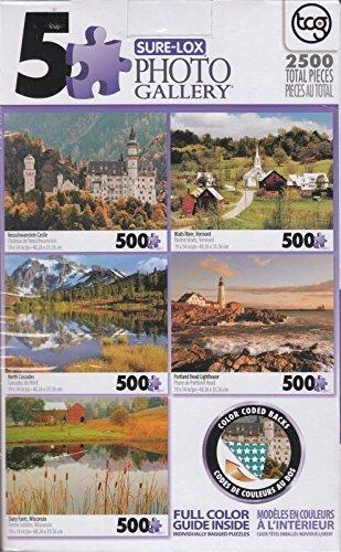 - Photo Gallery: Neuschwanstrin Castle, Waits River, North Cascades, Portland Head, Dairy Farm 500 X 5 Puzzle by LPF