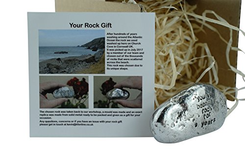 Pirantin 9th for Men Ornament - You've Been My Rock for 9 Years - Solid Metal Heavy Rock (9 Year Wedding Anniversary Gift Ideas Uk)