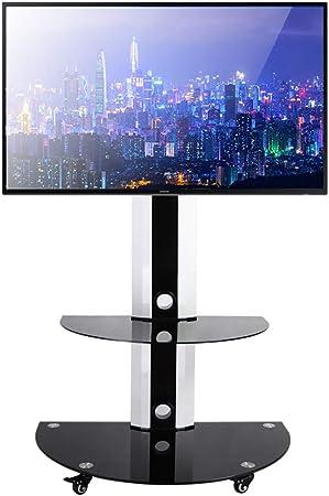 Soporte TV Trole Soporte de piso para carrito de TV para televisores de pantalla plana de