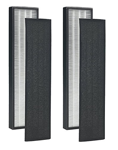 Altec Filters 2 True HEPA Filters & 8 Carbon Active Pre-Filters Replacement Filters Compatible FLT4825 Series Air Purifier Filter B Model AC4825 AC4300 AC4800 AC4900CA (2 Pack)