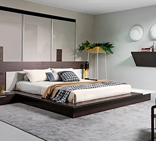 Overstock Modrest Torino Contemporary Brown Oak & Grey Platf