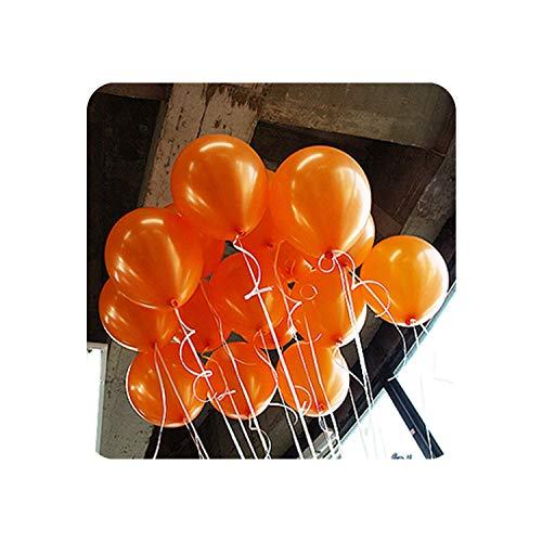 5pcs 12inch 2.2g Black Latex Heart Balloons Inflatable Wedding Ballon Children Birthday Party Decoration Air Ball Party Supplies,A13 Orange Round,1.5g