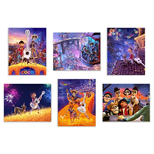 Coco (2017) Art Prints - Set of Six Pixar Mexican Dia de Muertos Decor Wall Photos 8x10 Land of the Dead