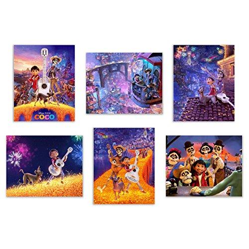 Coco  Art Prints - Set of Six Pixar Mexican Dia de Muertos D