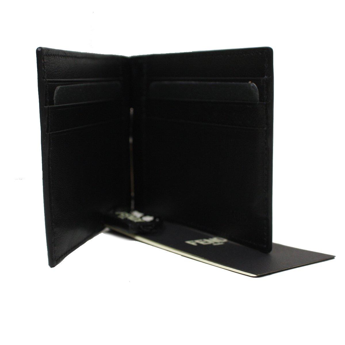 6ffa227999 FENDI Card Case 'Crayons' Saffian Leather Men's Bi-fold Wallet ...