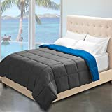 Alternative Comforter - Reversible Premium Down Alternative Comforter Twin XL Extra Long / Twin (Grey/Medium Blue)