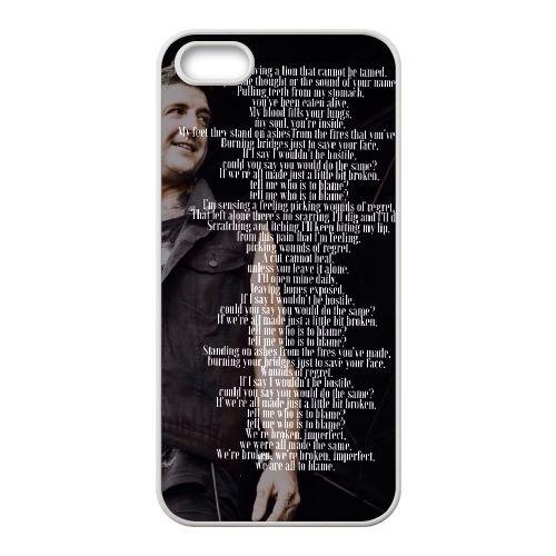 Of Mice & Men 008 coque iPhone 4 4S Housse Blanc téléphone portable couverture de cas coque EOKXLKNBC18748