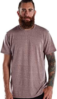 product image for US Blanks US2229 Men's Men's Short-Sleeve Triblend Crew Tri Brown Medium