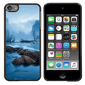 Snowy River- Metal de aluminio y de plástico duro Caja del teléfono - Negro - iPod Touch 6