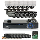 GW Security 1080P HD-CVI 16 Channel Video Security Camera System – Twelve 2MP Weatherproof 2.8-12mm Varifocal Zoom (6) Bullet & (6) Dome Cameras, IR Night Vision, Long Distance Transmit Range (984ft), Pre-Installed 4TB HDD Review