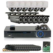 GW Security 1080P HD-CVI 16 Channel Video Security Camera System - Twelve 2MP Weatherproof 2.8-12mm Varifocal Zoom (6) Bullet & (6) Dome Cameras, IR Night Vision, Long Distance Transmit Range (984ft), Pre-Installed 4TB HDD