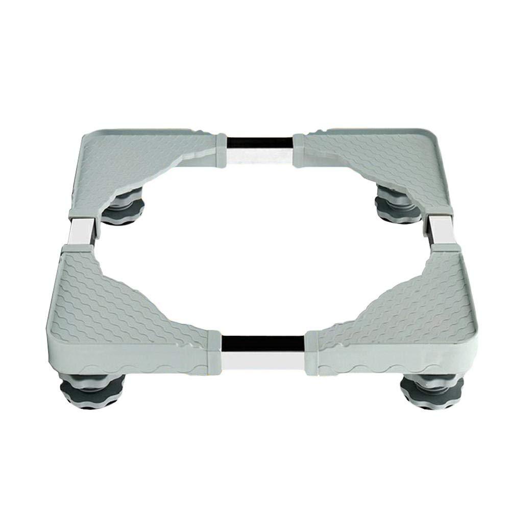 Base de Machine à Laver Réfrigérateur - Beatie Support en Acier Inoxydable Rotatif pour Lave-Linge Sèche-Linge Congélateur - Longueur 50-60cm   Largeur 45-58cm   Hauteur 10cm