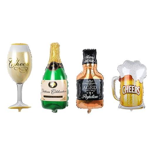 Huture Globo Botella de Vino de Globos de Whisky Globos de Papel ...