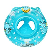Elison-Cartoon Elephant Baby Infant Inflatable Seat Security Swimming Pool Float Swim Ring Under Arm Bath Ring with Handle