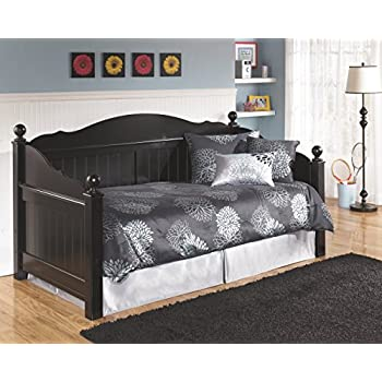Ashley Furniture Signature Design - Jaidyn Youth Day Bed with Storage - Twin Size Bedset - Black