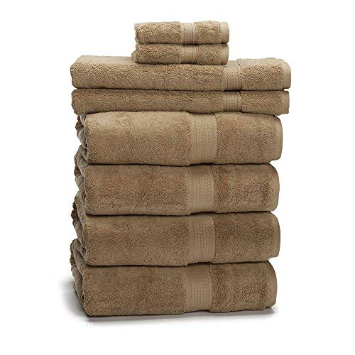 900 GSM 100% Egyptian Cotton 8-Piece Towel Set - Premium Hotel Quality Towel Sets - Heavy Weight & Absorbent - 4 Bath Towels 30