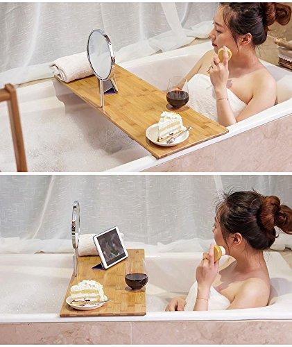 Bamboo Bath bathroom Bathroom glass shelf bathroom ideal luxury bamboo bathtub by FWZJSC (Image #2)