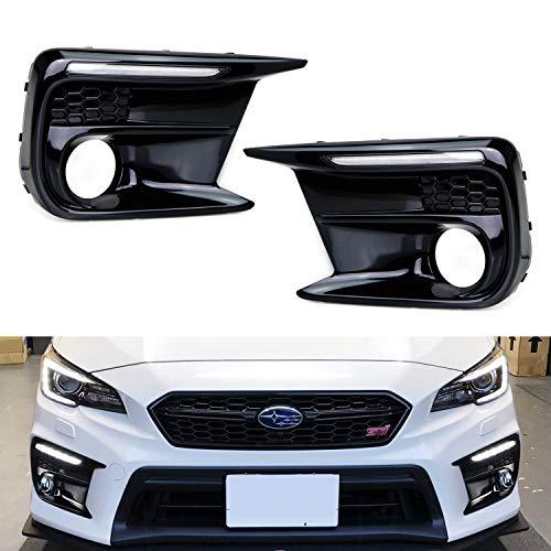 - iJDMTOY Xenon White LED Daytime Running Lights For 2018-up Subaru WRX/STi w/JDM Style Piano Black Finish Fog Lamp Bezels