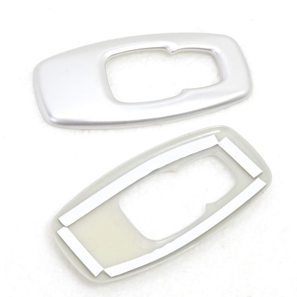 Interior Car Reading Light Decoration Cover Frame Trim ABS Matte 2PCS//SET