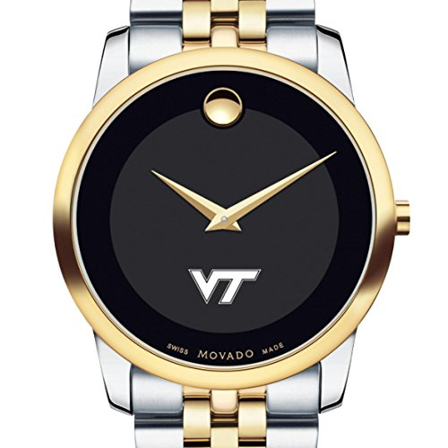 Virginia-Tech-Mens-Movado-Two-Tone-Museum-Classic-Bracelet