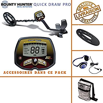 Bounty Hunter - Detector de Metales Quick Draw Pro con Protector ...