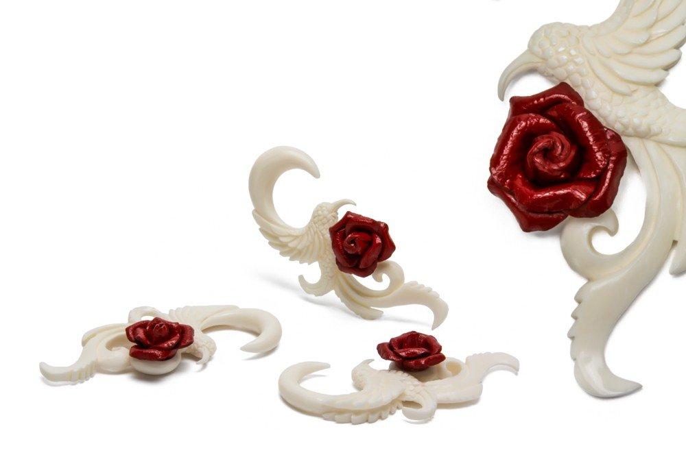 Summer Rose Hummingbird Organic BONE Body Jewelry - Price Per 2-2mm ~ 12g
