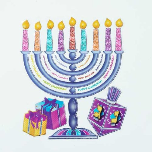 Hanukkah Glitter (1 X Large Hanukkah Glitter Window Static)