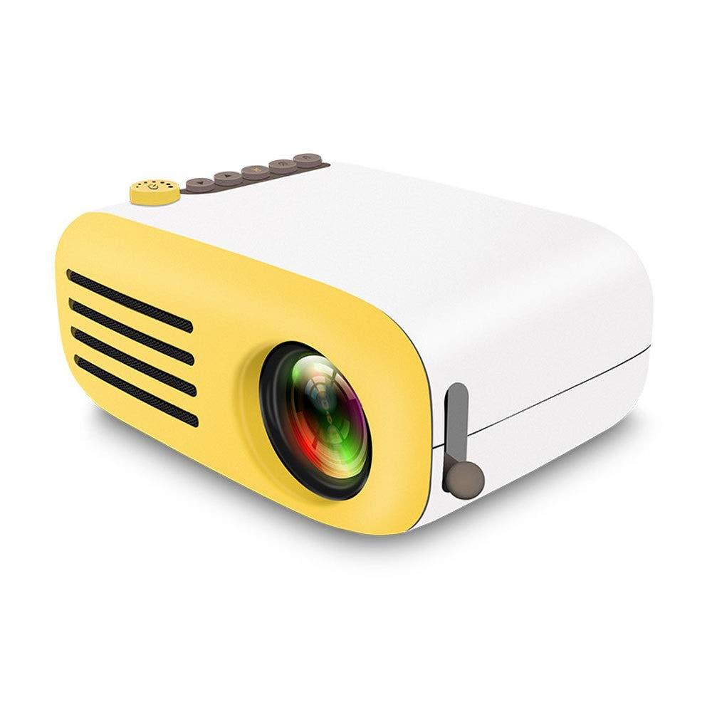 LZRDZSW プロジェクタービデオミニプロジェクターポータブルホームシネマプロジェクターミニポータブルLEDプロジェクター高精細ビデオプロジェクター黒と白ホームシネマと屋外の娯楽のための理想 (Color : Yellow) B07SVLDR4H Yellow
