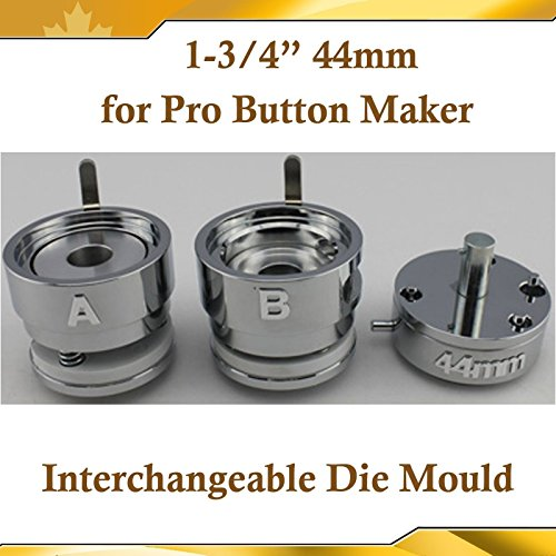 Round 44mm 1-3/4'' Interchangeable Die Mould for New Pro Badge Button Maker(item#015334) by Button Maker